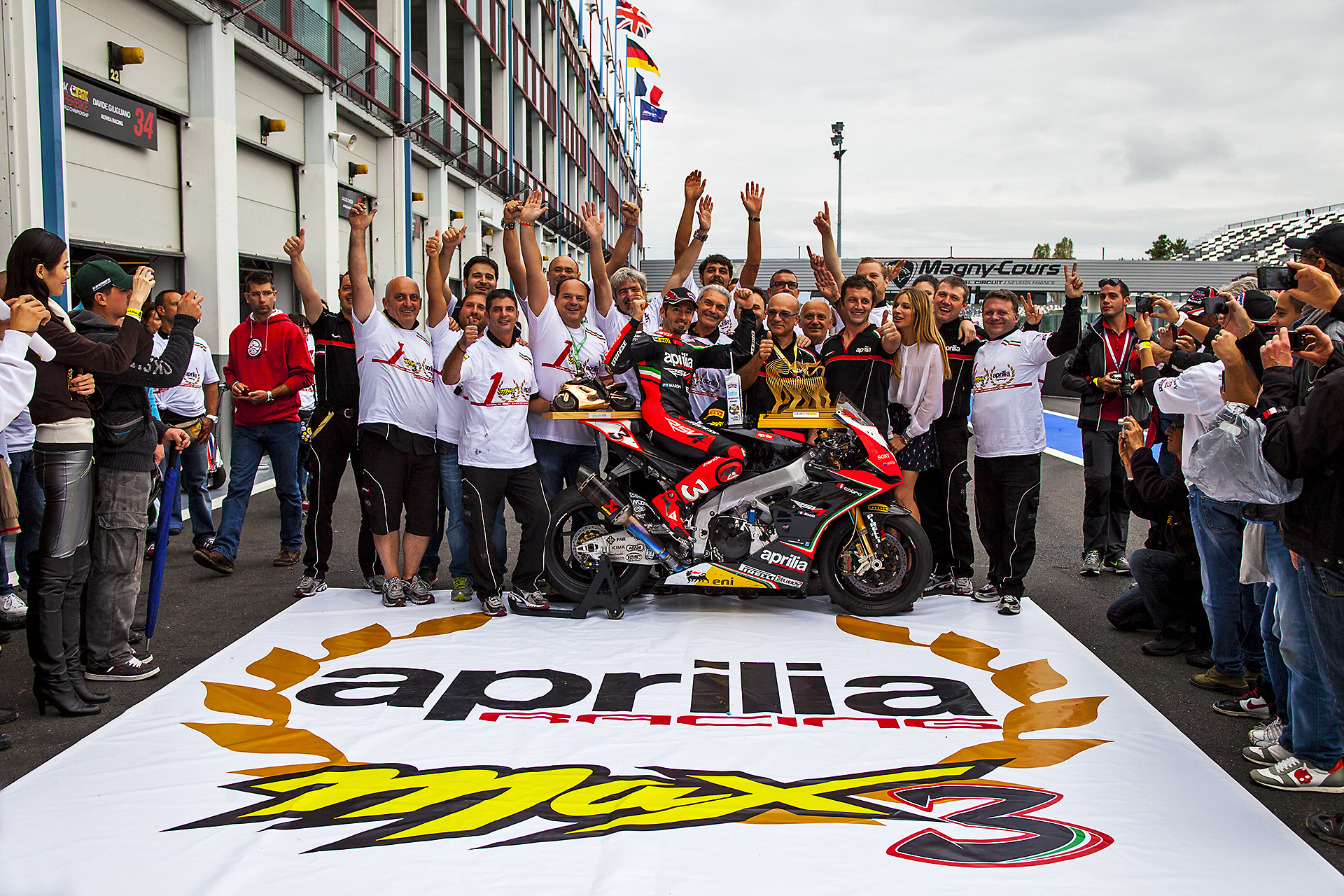 Image Max Biaggi. Aprilia Racing Sbk World Championship 2012 Photo By Foto ReD Photographic Agency
