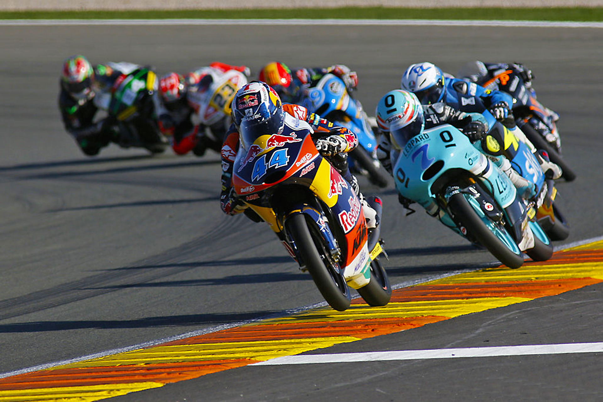 Miguel Oliveira leading the pack. Round of the Moto3 World Championship